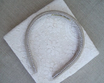 Plain Linen Headband Natural