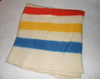 Vintage hudson bay like blanket