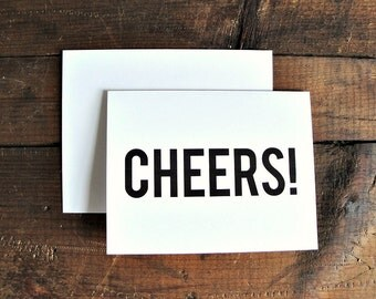Cheers - Congratulations Greeting Card