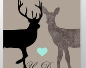 Personalized Wedding Gift Bedroom Decor Wedding gift for couple Deer sign  anniversary gift Romantic Gift for couples wedding shower gift