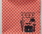Dapper Dude Tangerine Iron Gate Pocket Square/Handkerchief