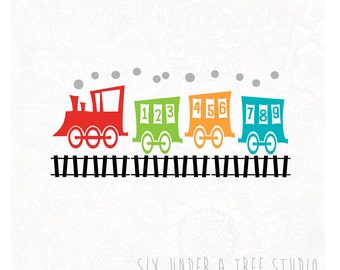 123 Train Wall Vinyl Decals Art Graphics Stickers