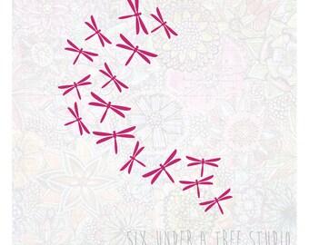 Dragonflies Wall Vinyl Decals Art Graphics Stickers