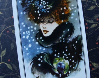Antique1960s Art Deco Rare Playing Cards  Baby its Cold Outside
