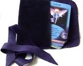 Leather Tarot Bag..Purple...Suede