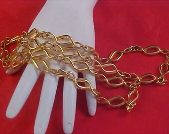 Substantial Gold Plate Link Chain NECKLACE by NAPIER