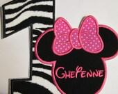 Iron on Applique - Birthday Mouse Head - Girl