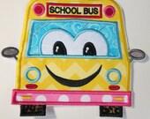 Iron On Applique - Back To School Applique School Bus