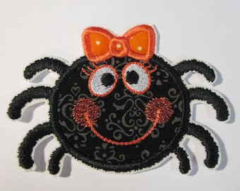 Iron On Applique - Girl Spiders  Ships in 1-3 Business Days