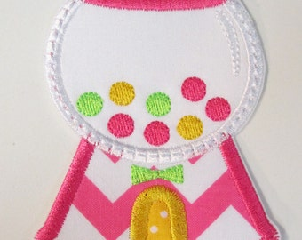 Iron On Applique - Bubble Gum Machine