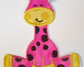 Iron On Applique - Girly Giraffe