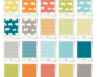 Baby bedding & Stokke Bedding - Organic Elephant collection - certified organic GOTS - Std crib or Stokke - Choose your fabrics