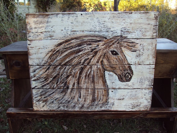 Items Similar To Horse Head Painting On Reclaimed Wood