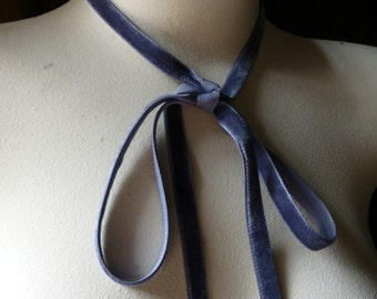 3 yds. Gray Velvet Ribbon for Bridal, Jewelry or Costume Design, Millinery, Couture, Floral Supply VL 88sg