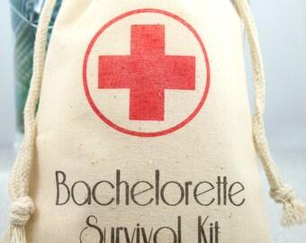 Bachelorette Survival Kit Favor Bags 5x8 - Set of 10