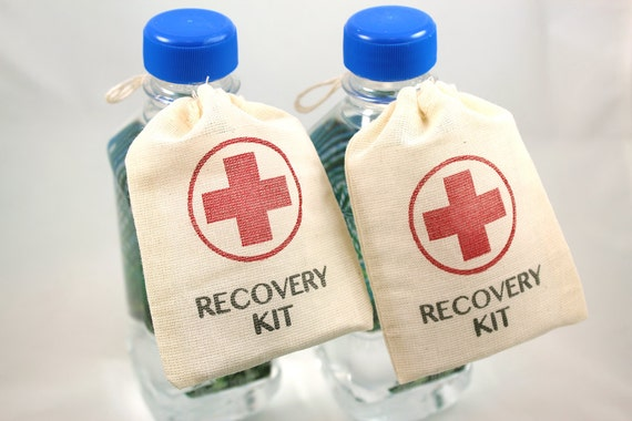 Wedding Gag Gift: DIY Wedding Favor Bags Recovery Kit Set Of 10 Funny