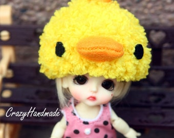 Little duck crochet hat for lati white / pukipuki / felix brownie doll