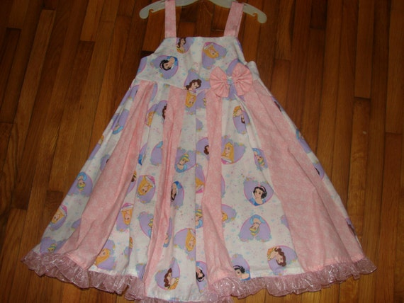 custom boutique dress made with princess fabric  size 2-6