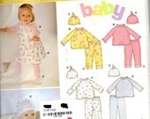 New Look 6331 Sewing Pattern Baby Clothing - Sizes Newborn to Large