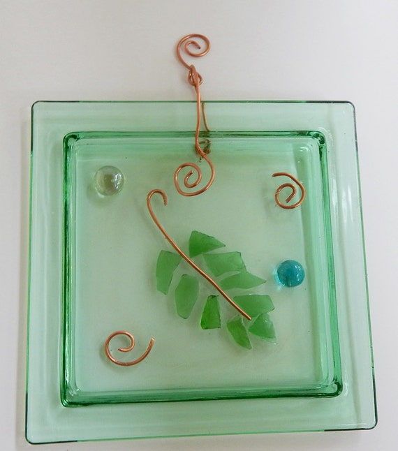 Items similar to broken glass craft suncatcher window for Broken glass crafts