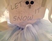 Let it snow outfit rhinestones