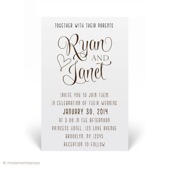 Stamps For Wedding Invitations: Custom Wedding Stamp Wedding Invitation Stamp By