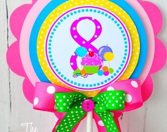 Candyland Cake Topper, Smash Cake Topper, Candyland Birthday Party