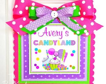 Candyland Door Sign, Welcome Door Sign, Candyland Birthday Party