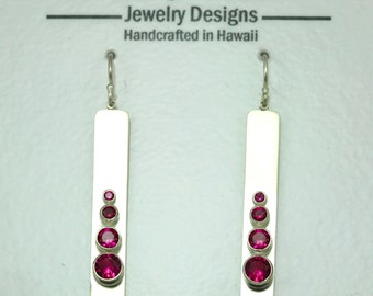 4 Stone Sequence Earring (Ruby) made to order