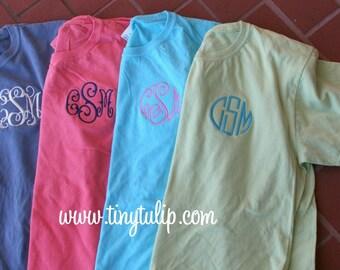 Monogrammed T Shirt Short Sleeve