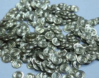 100 Metallic  Silver/ Circle Texture / Round Sequins/KBRS121