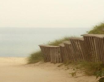 Wandering Art Print.  Lake MIchigan Beach, beach photography, path to beach.