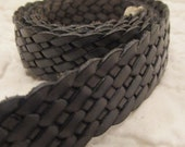 "Braided Leather Strap New Supply 28"" x 5/8"" New"