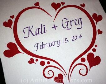Wedding Aisle Runner Heart Valentine Hand Painted Custom Designed - DEPOSIT for any length and design