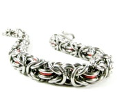 Red Byzantine - Chainmaille Bracelet