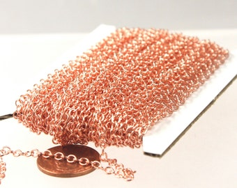 10 ft. of Bright Copper SOLDERED Cable Chain - 3.4x3.0mm SOLDERED LInk