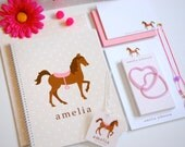 Personalized School Supplies - PONY Collection (folder, notebook, binder, etc)