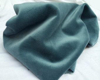"Velvet, Blue Teal Cotton Woven Velvet heavy upholstery weight,16 oz - organic cotton yarn-non toxic dyes 56"" W, No Flame Retardants ON SALE"