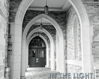 The Law School of Notre Dame Arched Hall - Fine Art Photograpy - 8x10, 11x14, other sizes available - fPOE