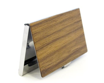 Walnut Wood Business Card Case