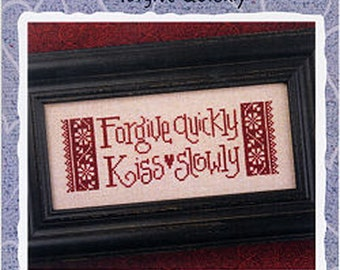 Lizzie Kate Snippet S95 - Forgive Quickly - Counted Cross Stitch Pattern Chart