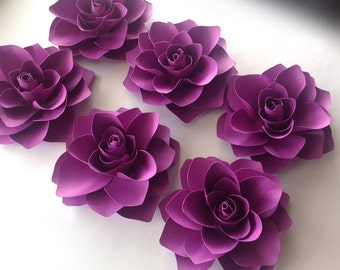 Paper flowers Hera style in any colour  set of 12