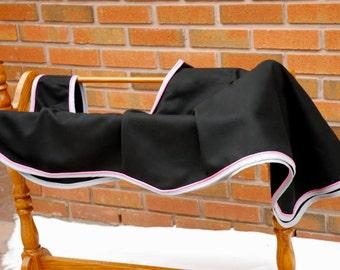 Black Equestrian Wool Quarter Sheet