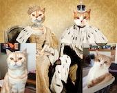 Custom Pet Portrait Animal Art Pet Portraits for Two Pets Cat Portrait Dog Portrait -  8x10 PRINT