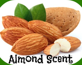 ALMOND Scented Soy Wax Melts Tarts - Food - Nuts - Floral - Flameless Wickless Air Freshener - Maximum Fragranced - Handmade In USA