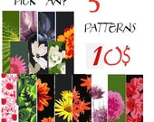 SAVE  - Pick Any 5 Peyote Patterns for 10.00 usd