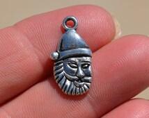 10 Silver Santa Claus Charms SC2235