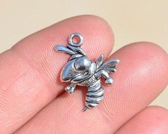 BULK 50  Silver Bee , Hornet Charms SC1176