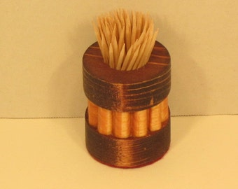 Toothpick Holder Round Handmade