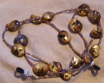 Eyeglass Lanyard/Chain - Handmade with Shell by JewelryArtistry - L29